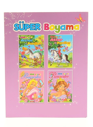 Süper Boyama-Prensesler-2-Çiçek Yayıncılık
